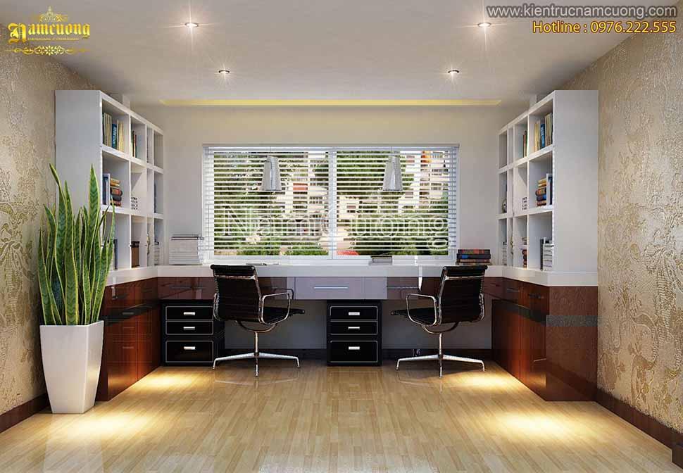 Mẫu phòng làm việc đẹp cho nhà phố đẹp tại Hà Nam