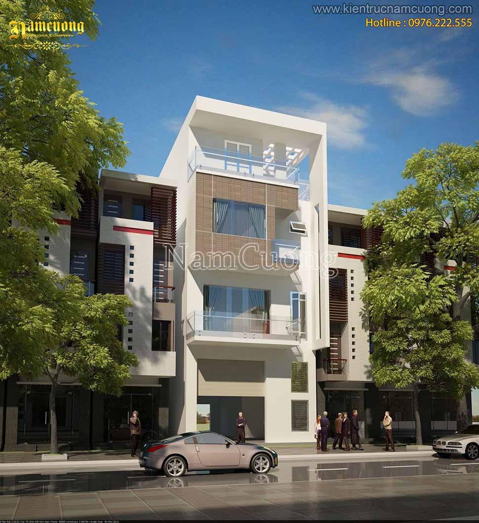 Kiến trúc nhà phố hiện đại 4 tầng