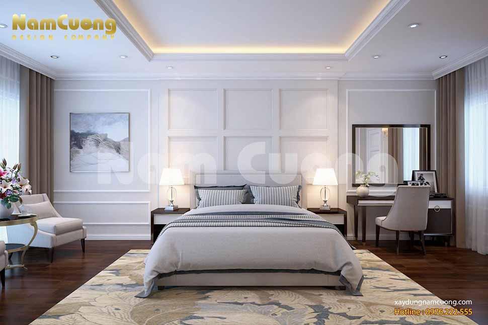 Phòng ngủ 3 sang trọng và ấm áp của công trình nhà ống