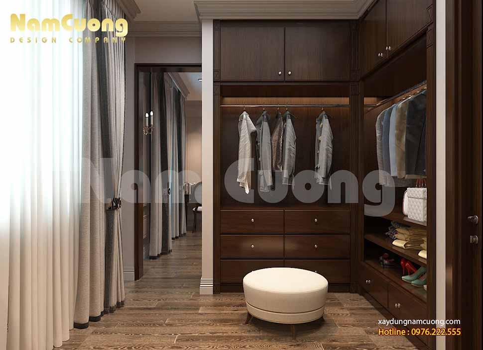 khu vực thay đồ trong phòng ngủ