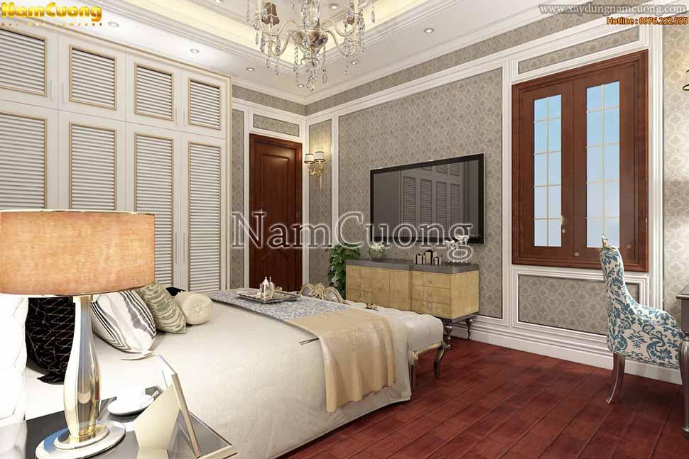 không gian sang tọng của phòng ngủ