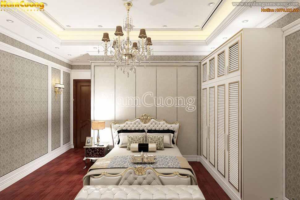 không gian phòng ngủ cổ điển đẹp
