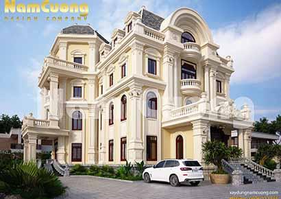 biệt thự 4 tầng cổ điển