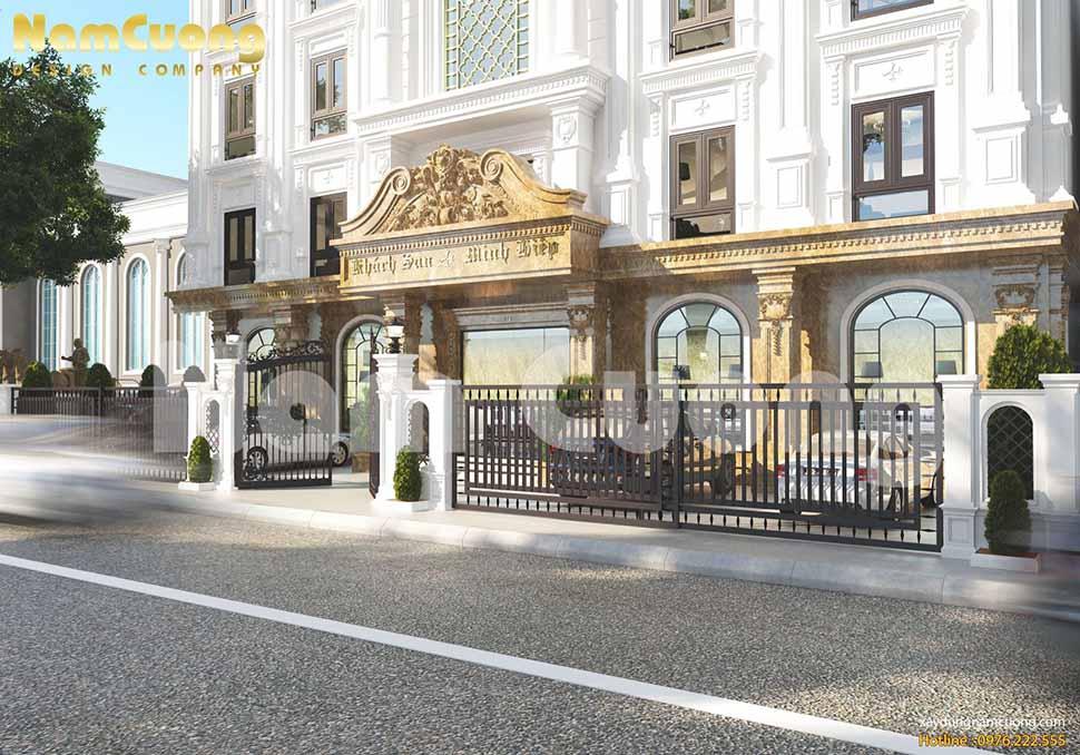 chú trọng vẻ đẹp kiến trúc ở cả mặt tiền và hậu của khách sạn