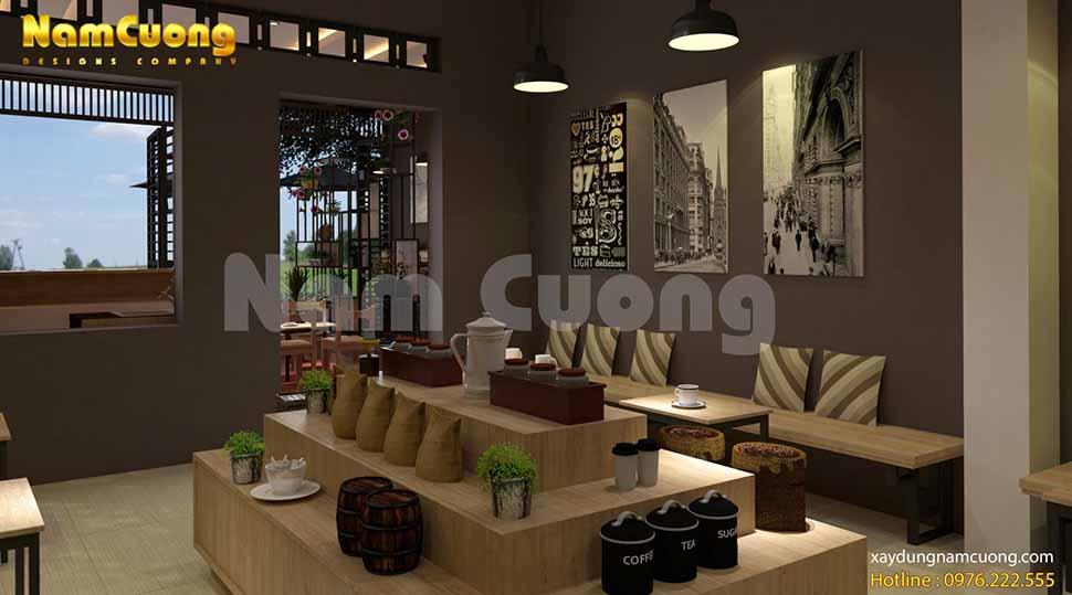 mẫu thiết kế nội thất quán cà phê