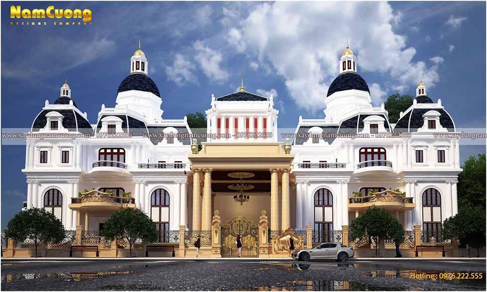 kiến trúc biệt thự lâu đài pháp đẹp