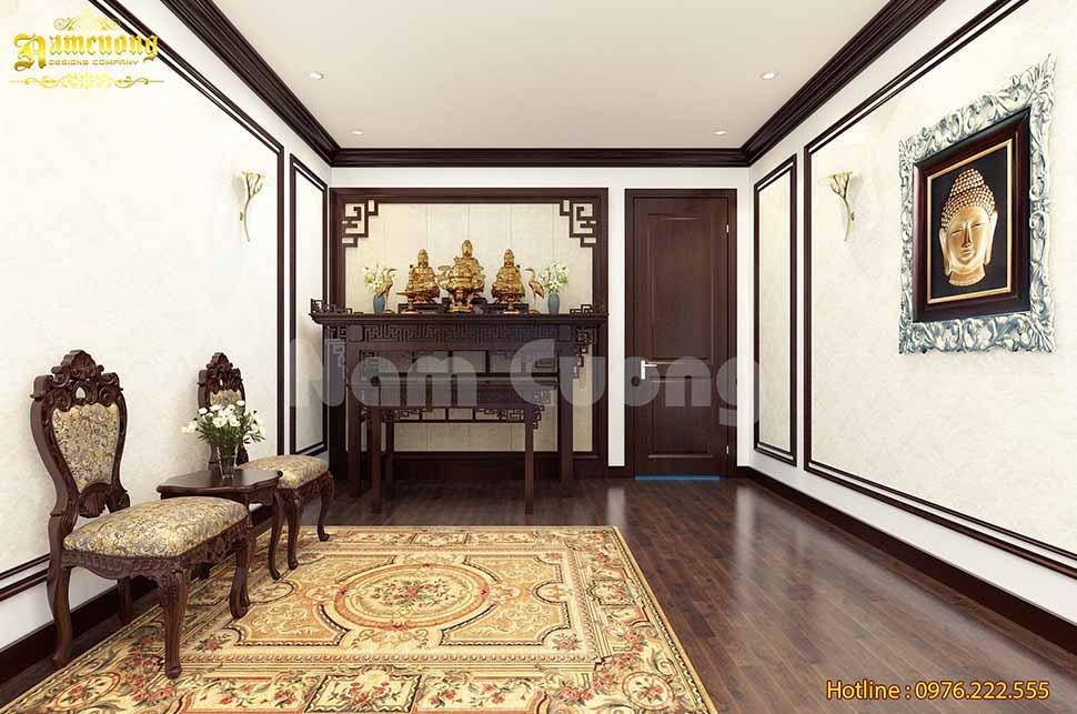 Chiêm ngưỡng mẫu phòng thờ phong cách tân cổ điển đẹp xuất sắc tại Quảng Ninh