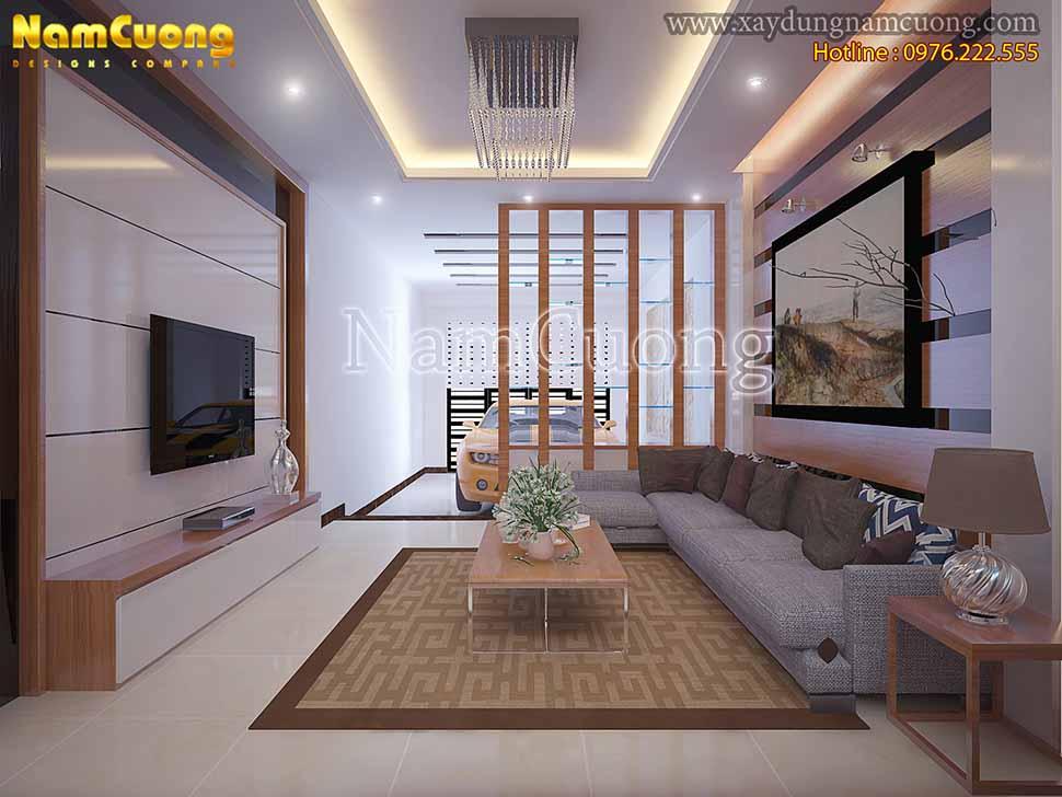 nội thất phòng khách nhà ống