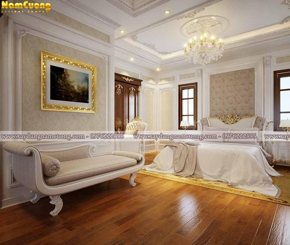 vẻ đẹp lãng mạn của phòng ngủ nhà ống