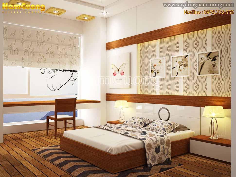 phòng ngủ nhà phố 3 tầng