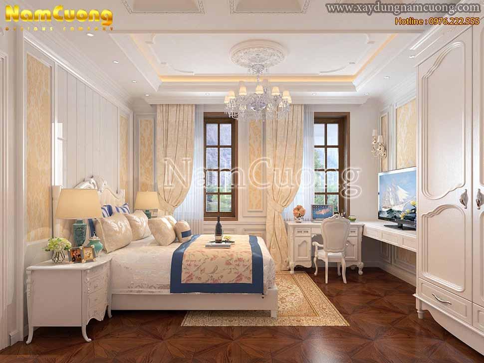 nội thất phòng ngủ nhà ống