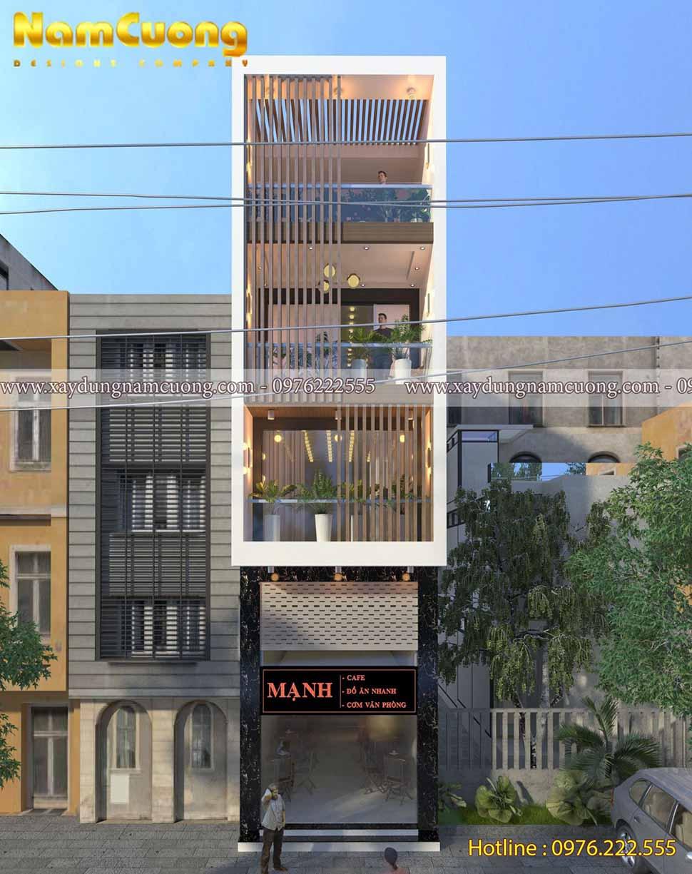 nhà phố 5x20 có tầng lửng kết hợp kinh doanh