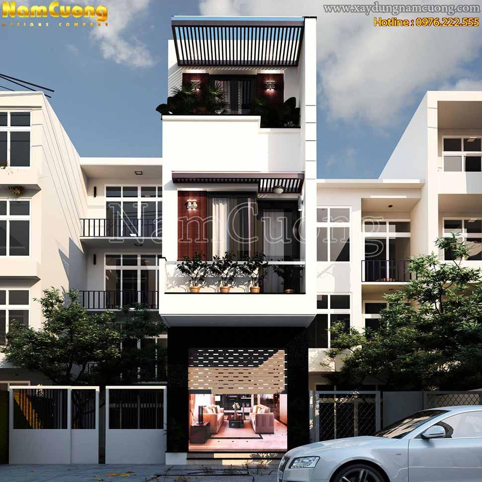 nhà phố hiện đại 5m x 20m