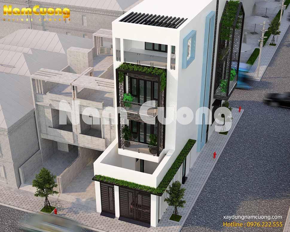 nhà phố hiện đại 6m
