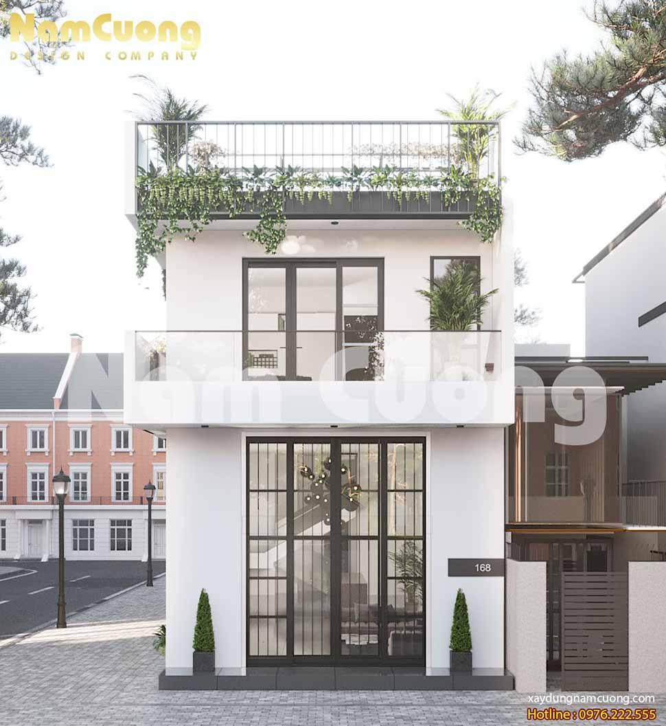 kiến trúc ngôi nhà hiện đại 2 tầng