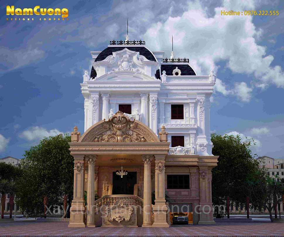 kiến trúc ngôi nhà kiểu pháp