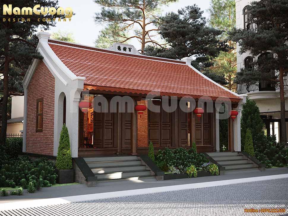 mẫu nhà thờ họ 3 gian đẹp