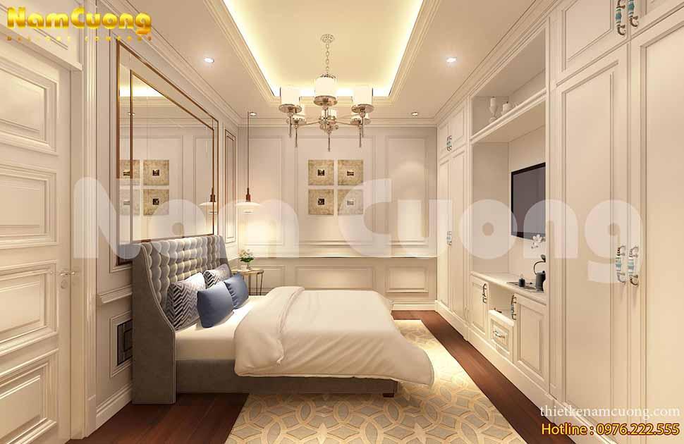 nội thất phòng ngủ biệt thự pháp sang trọng