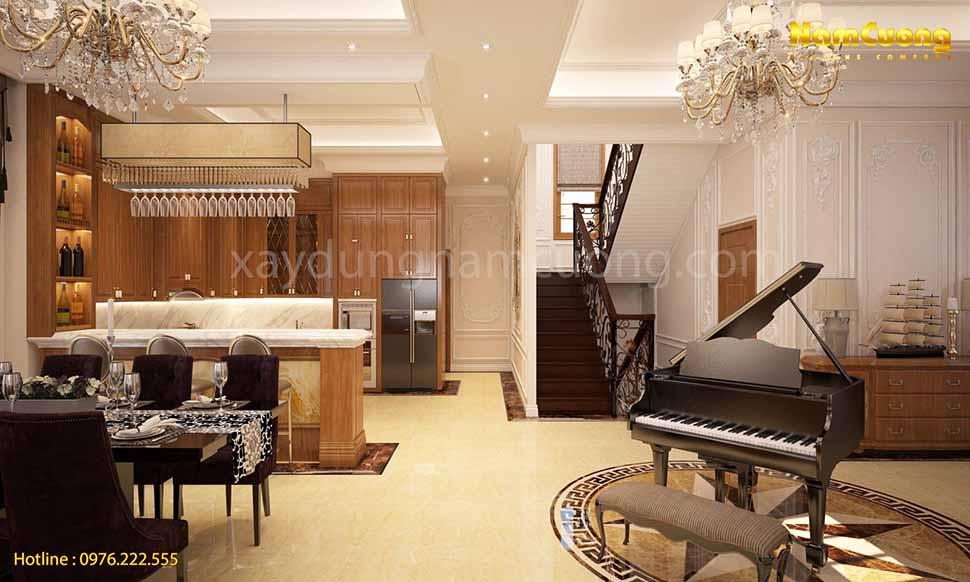 không gian khách bếp