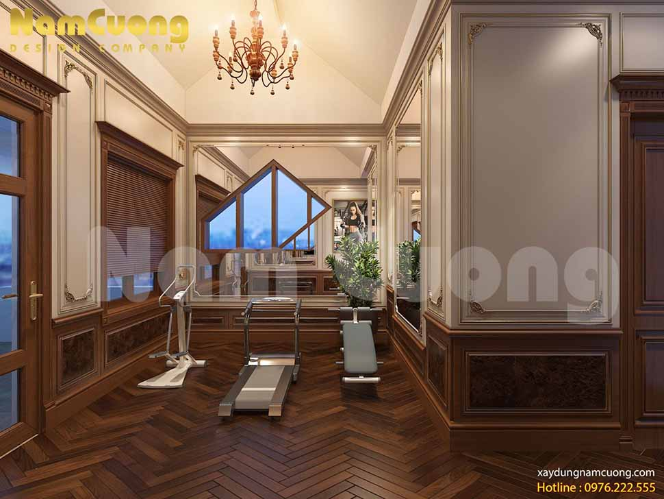 nội thất biệt thự tân cổ điển 2.5 tầng