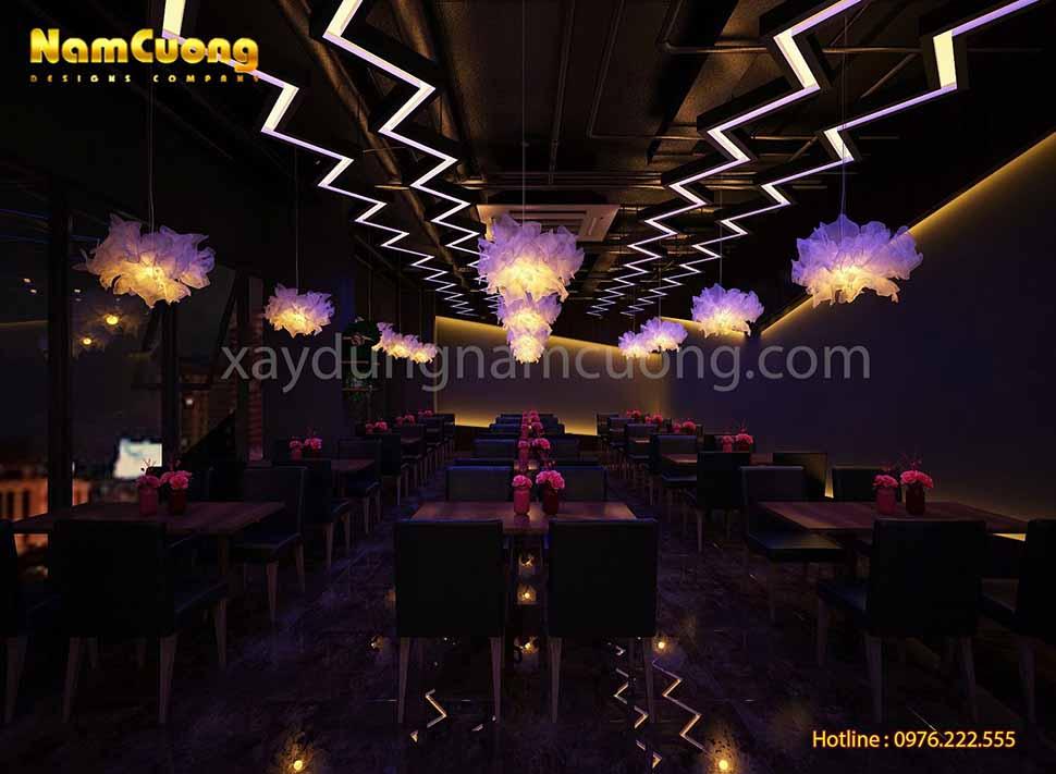 không gian nội thất cafe