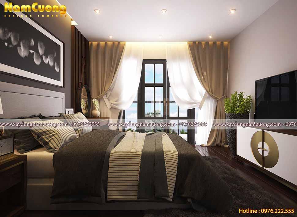 không gian sang trọng của phòng ngủ nhỏ