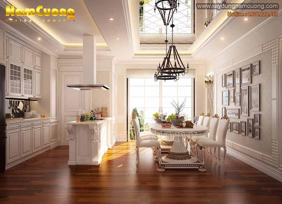 nội thất phòng bếp chung cư cổ điển