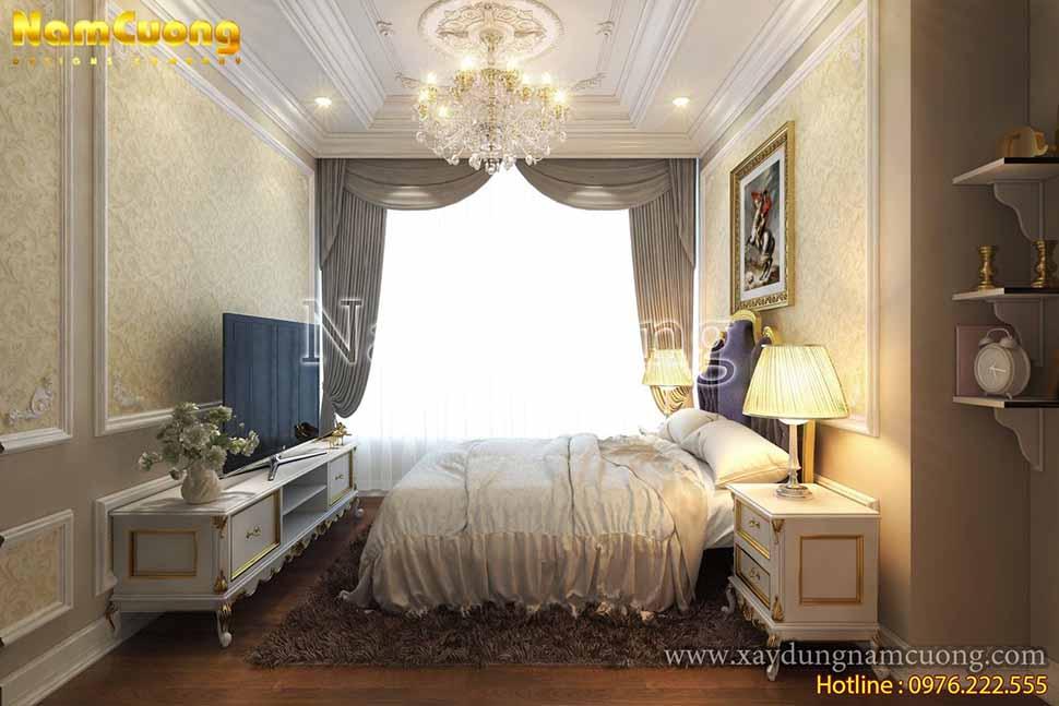nội thất phòng ngủ chung cư tân cổ điển