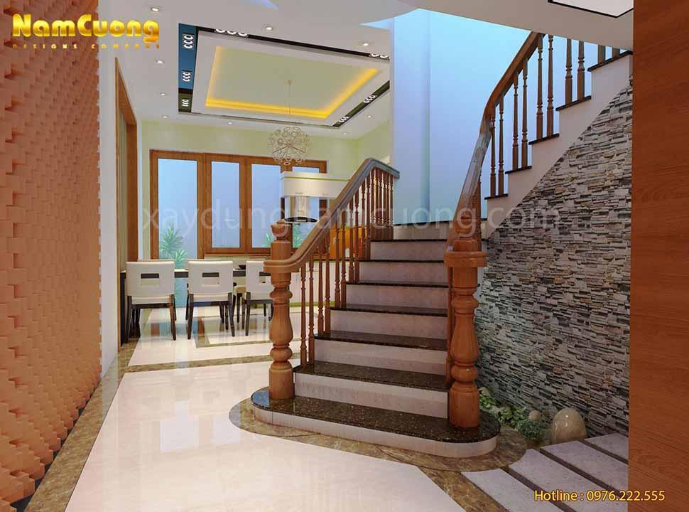 cầu thang của ngôi biệt thự