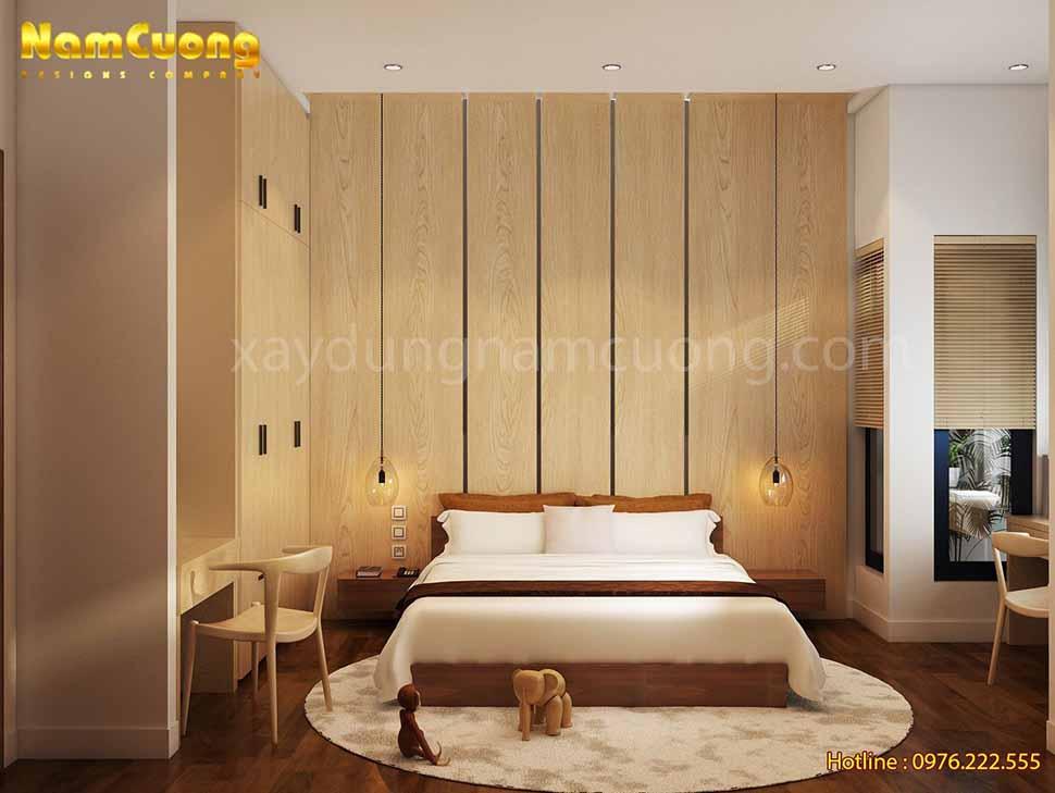 phòng ngủ trong ngôi biệt thự hiện đại