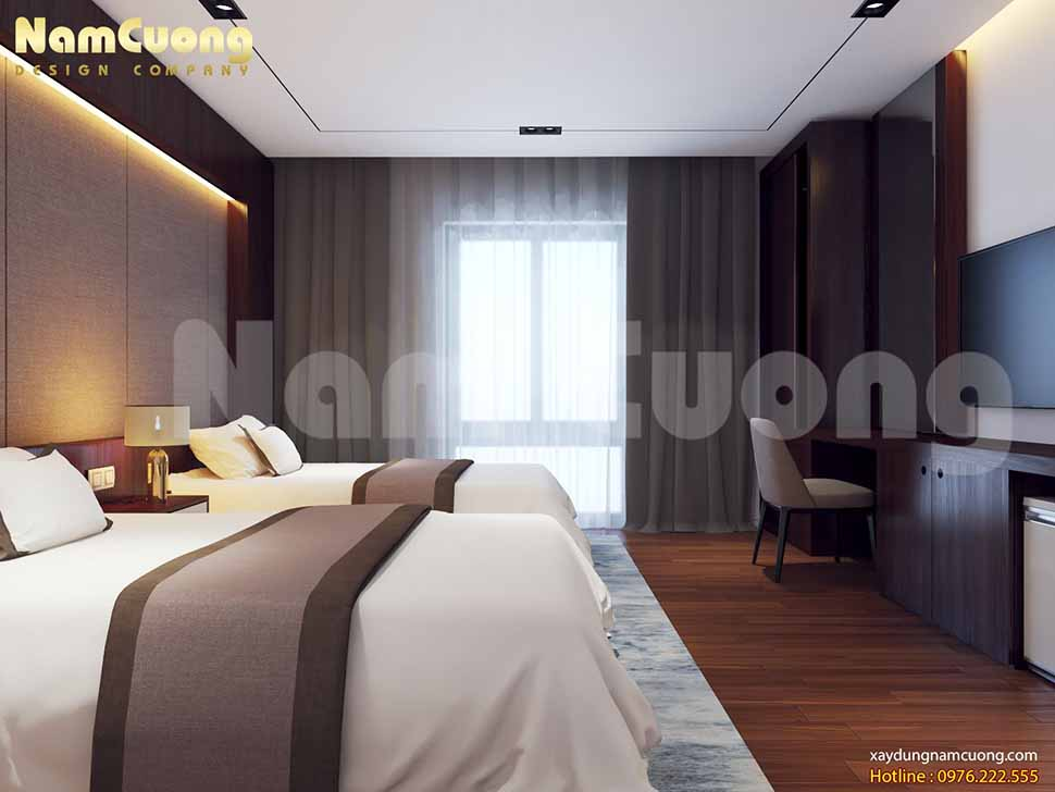 mẫu thiết kế phòng ngủ đôi