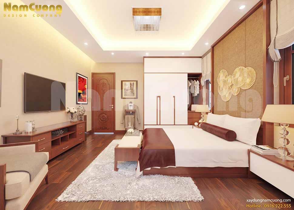 không gian phòng ngủ 2 nhà 3 tầng