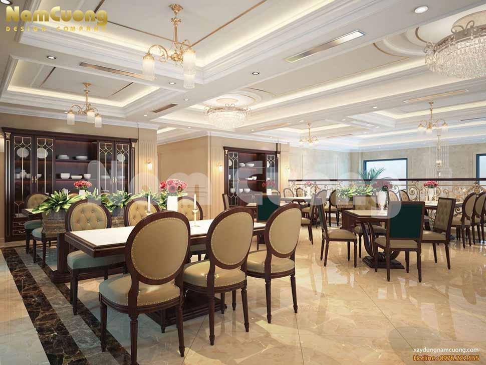 thiết kế nội thất đẹp cho nhà hàng