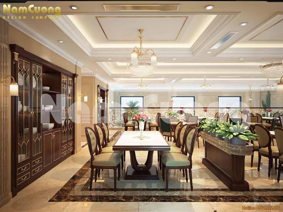 bàn ăn nhà hàng đẹp