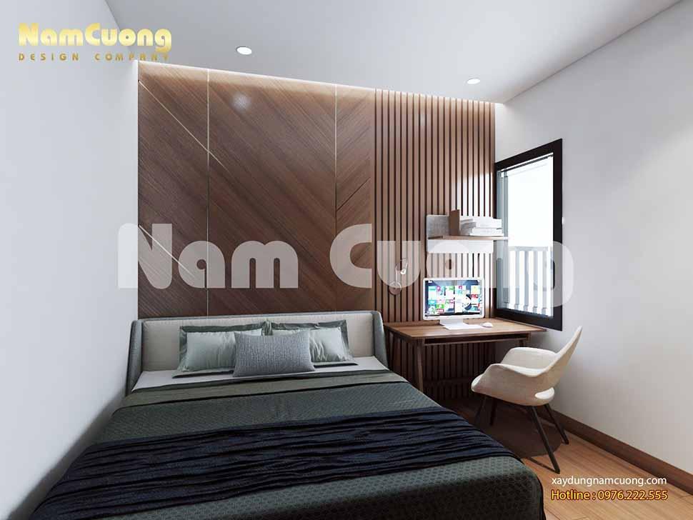 phòng ngủ master nhà ống nhỏ hiện đại