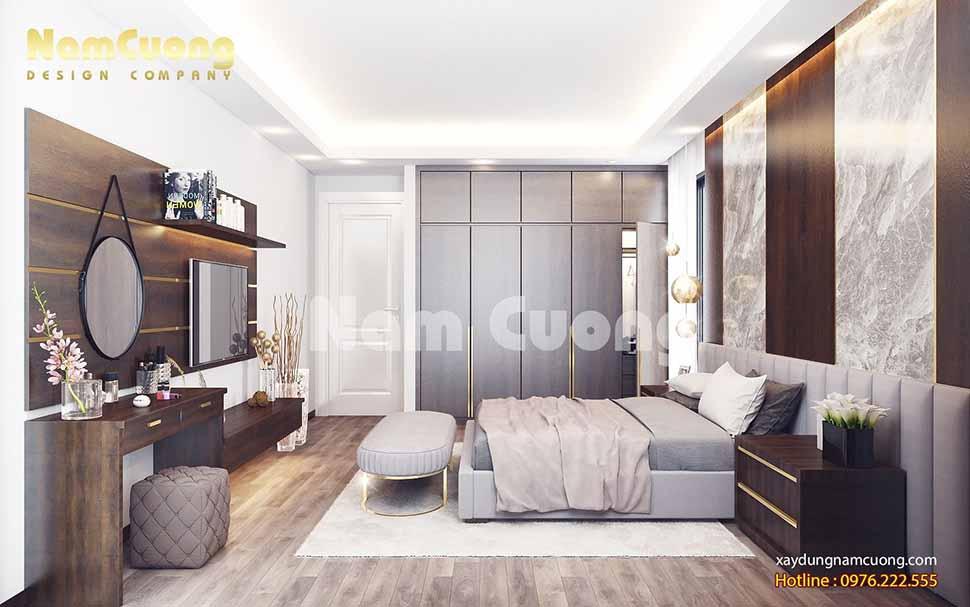 thiết kế phòng ngủ nhà ống