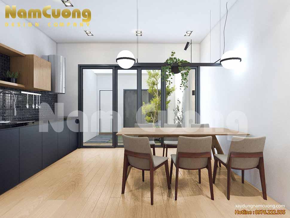 nội thất phòng bếp ăn nhà phố 4m