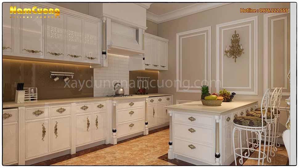 khu bếp nấu sang trọng của ngôi biệt thự
