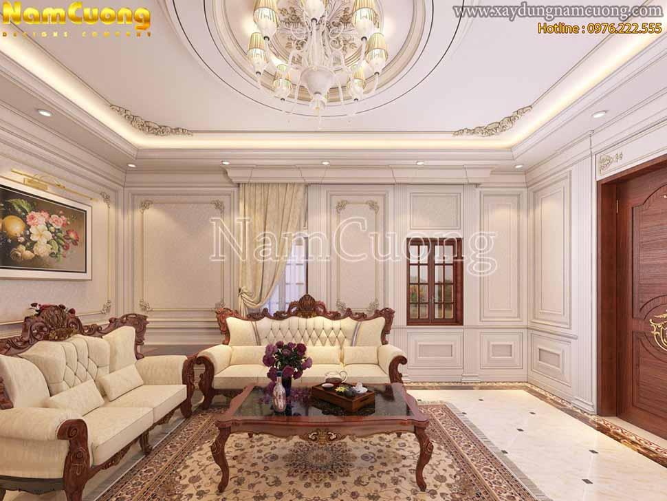 không gian phòng khách tân cổ điển đẹpk