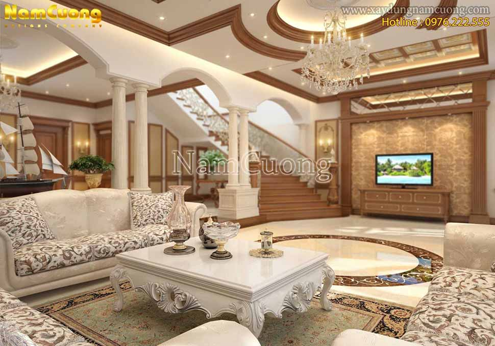 nội thất phòng khách biệt thự