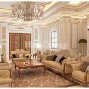 nội thất phòng khách biệt thự tân cổ điển