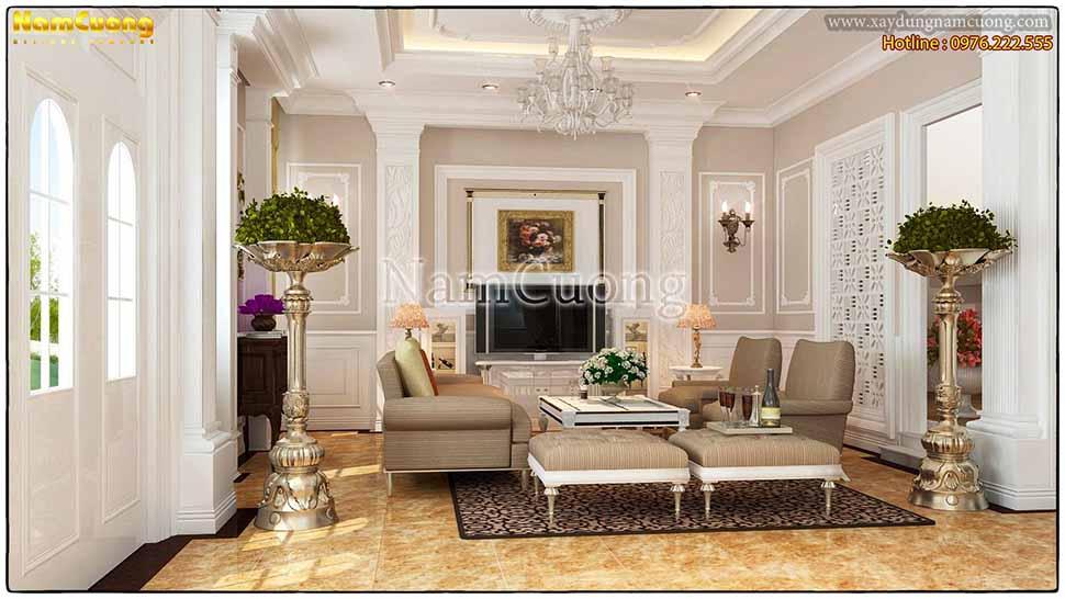 nội thất phòng khách 25m2