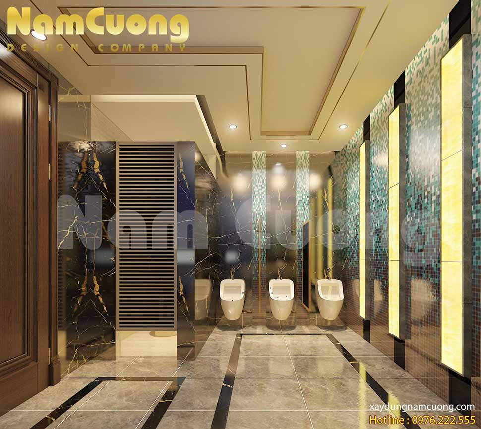 thiết kế WC chung của khách sạn