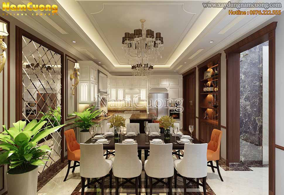 trang trí nội thất phòng khách và bếp