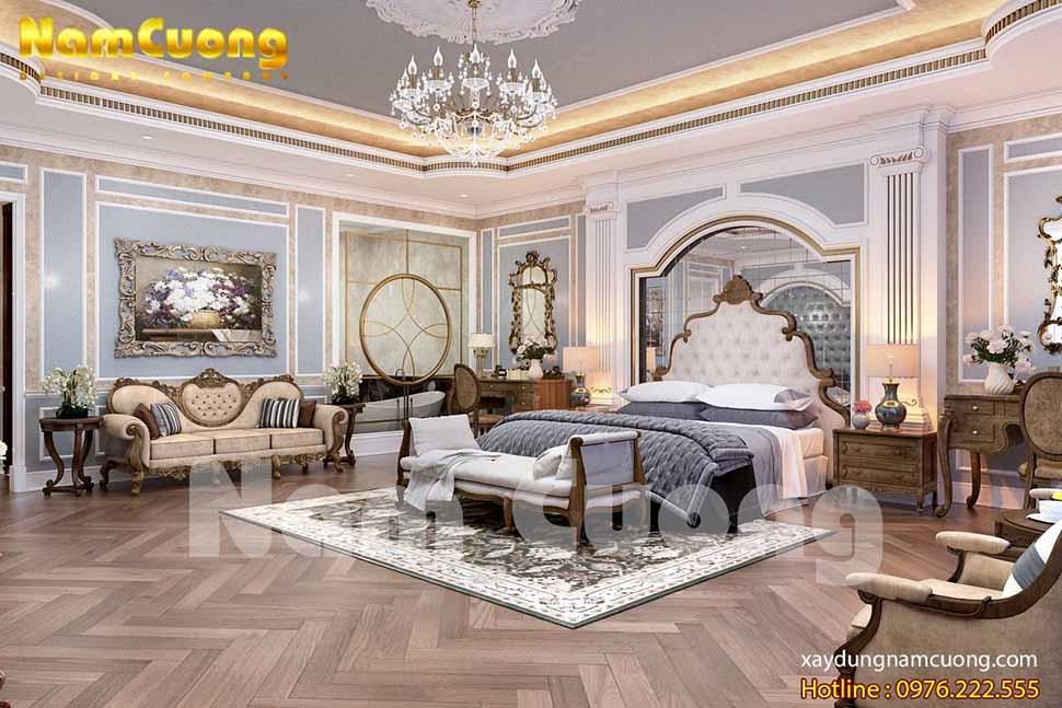nội thất phòng ngủ biệt thự