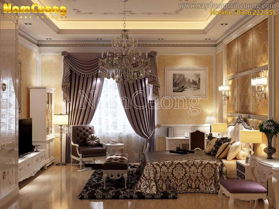màu sắc nội thất phòng ngủ châu âu