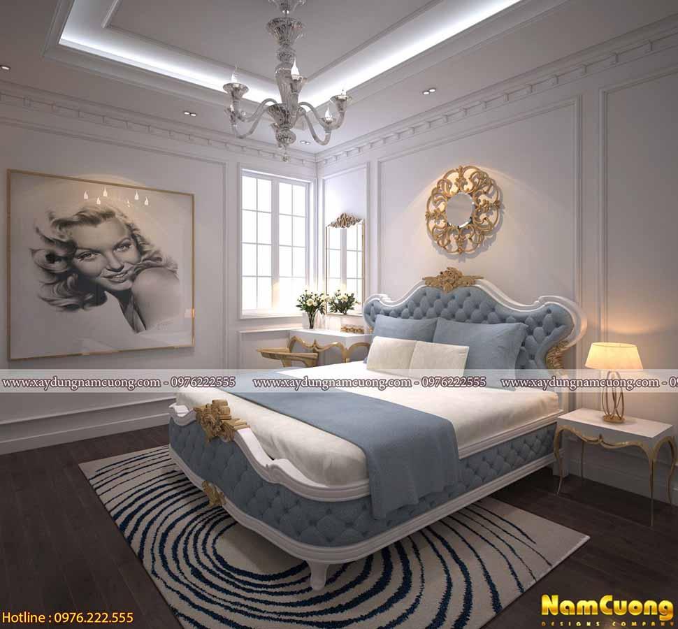 không gian nội thất phòng ngủ dễ thương