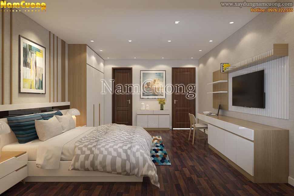 không gian phòng ngủ đơn giản