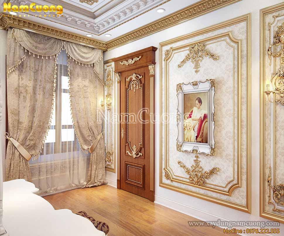 trang trí nội thất phòng ngủ kiểu pháp