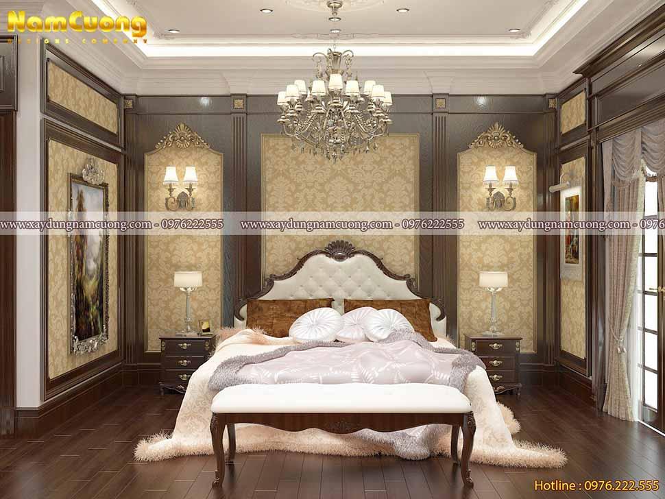 phòng ngủ sang trọng gỗ tự nhiên